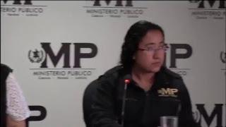 Conferencia de Prensa: Fiscalía contra el Delito de Extorsión