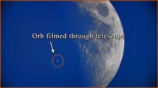 Daytime Orb & UFO Filmed Through Telescope