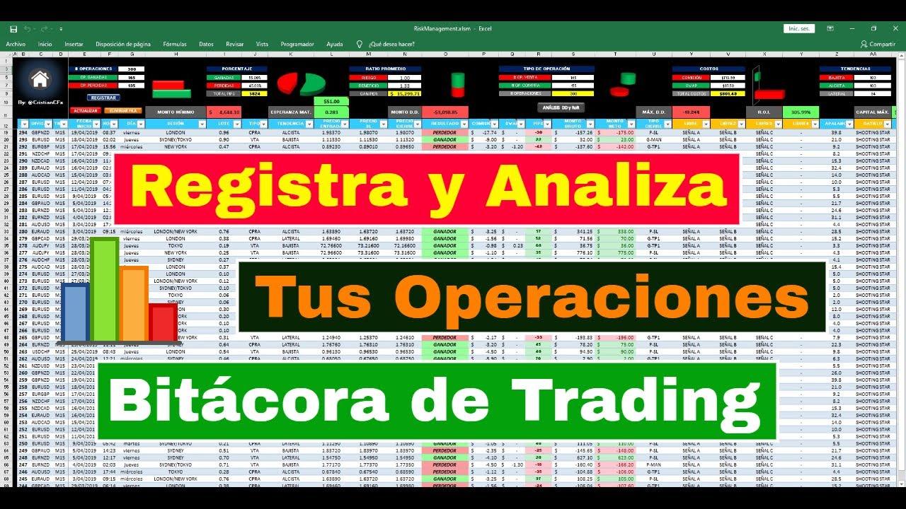 Bitacora de trading forex en excel