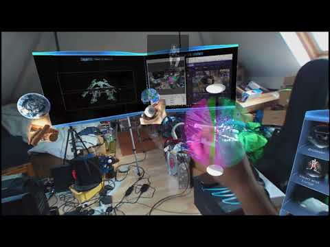 The first holographic Twitch Stream : Steel Battalion Meta 2 Meta Glasses Xbox Crystal