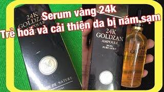Serum vàng 24k goldzan trẻ hoá săn chắc da và cải thiện làn da nám đen sần sùi