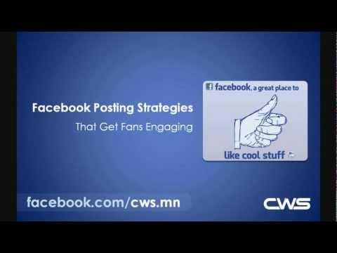 Facebook Posting Strategies Webinar - CWS, Inc.