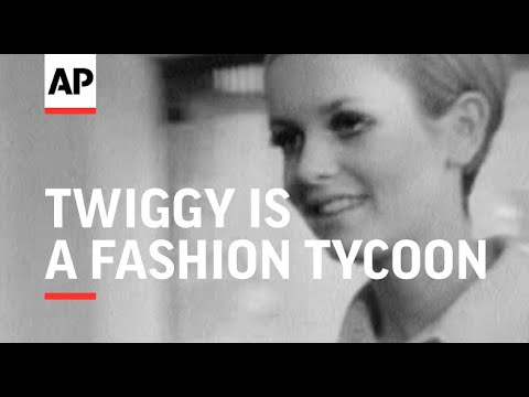 1960s Model Twiggy Becomes Fashion Tycoon