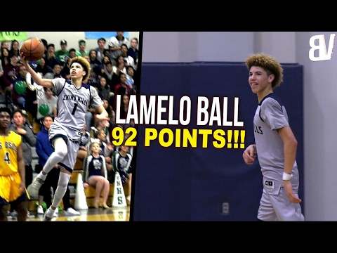 The Full Game LaMelo Ball Scored 92! Chino Hills DESTROYS Los Osos AGAIN! FULL HIGHLIGHTS