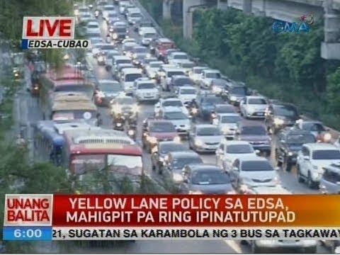 UB: Yellow lane policy sa EDSA, mahigpit pa ring ipinatupad