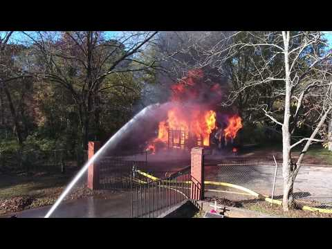 Covington Full Burn house fire - Controlled Burn