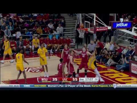 Men's Basketball: USC 87, Washington St. 64 -  Highlights 3/1/17