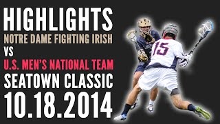 2014 Seatown Classic Highlights - Team USA vs. Notre Dame Men