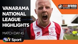 Vanarama National League Highlights Show | Matchday 45