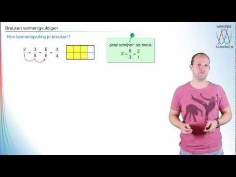 Breuken vermenigvuldigen-deel 1 - WiskundeAcademie from YouTube · Duration:  10 minutes 18 seconds