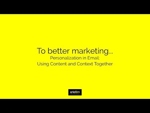 1MMV 047 - Personalization in Email: Using Content and Context Together