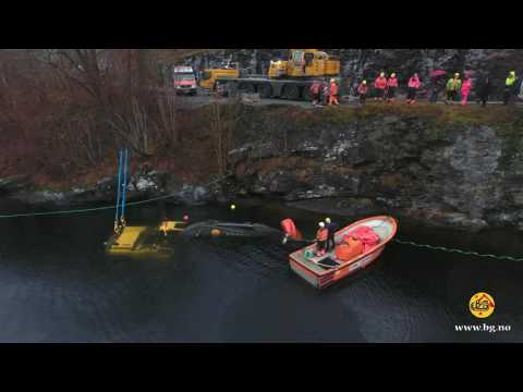 Heavy Recovery Of Two Sunken Excavators - Norway