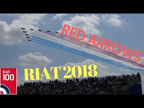 Red Arrows at RIAT 2018 with comms