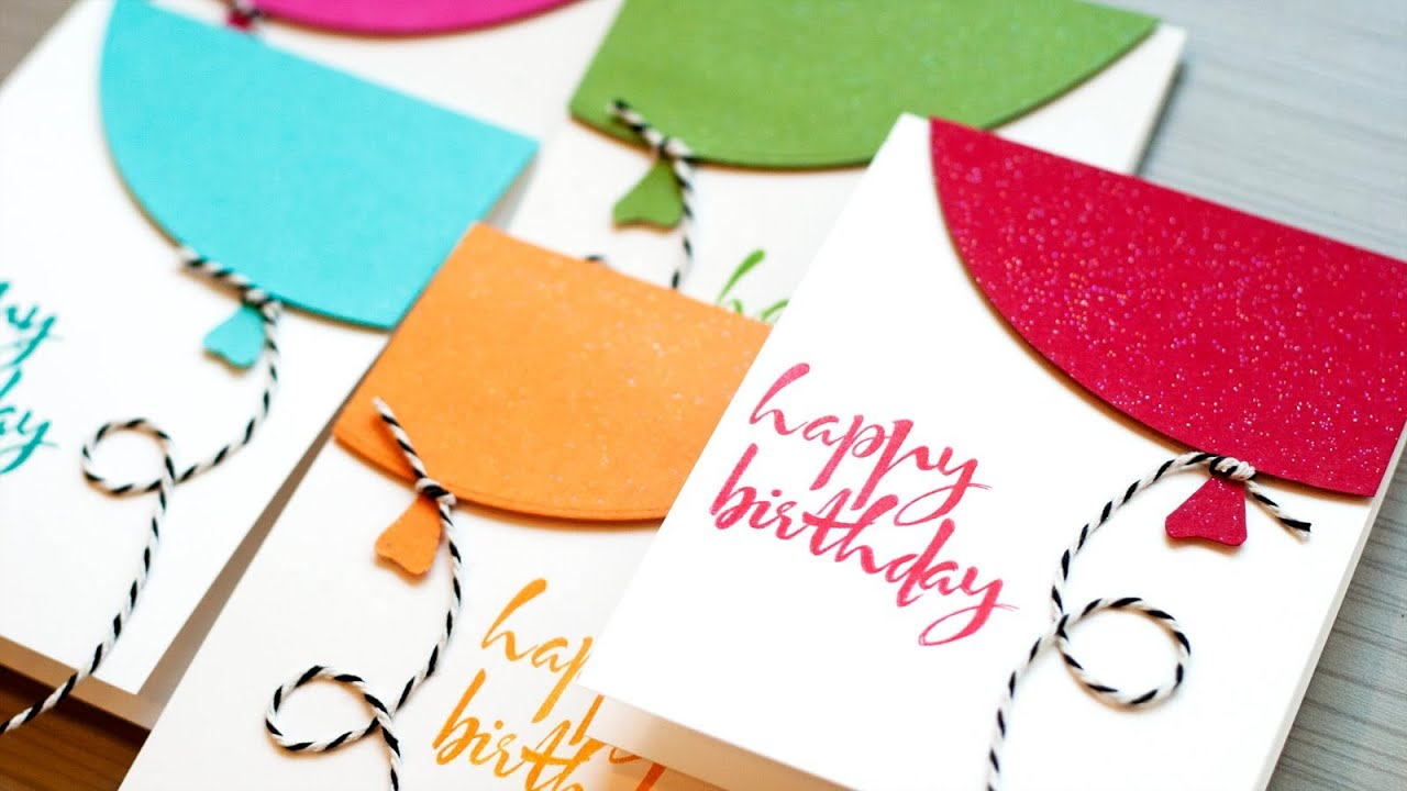 Quick birthday balloon cards youtube quick birthday balloon cards bookmarktalkfo Images
