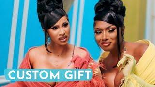 Cardi B Gifts CUSTOM ONE-OF-A-KIND Hermès Bag To Megan Thee Stallion!