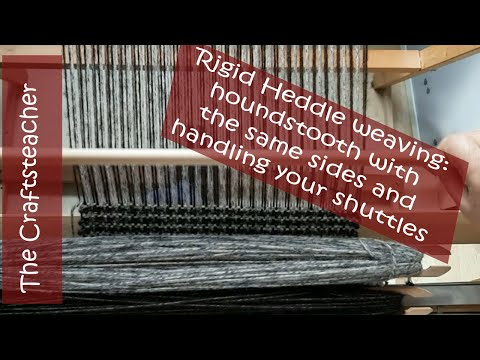 Houndstooth Pattern On The Rigid Heddle Loom With Equal Selvedges And How To Handle The Shuttles