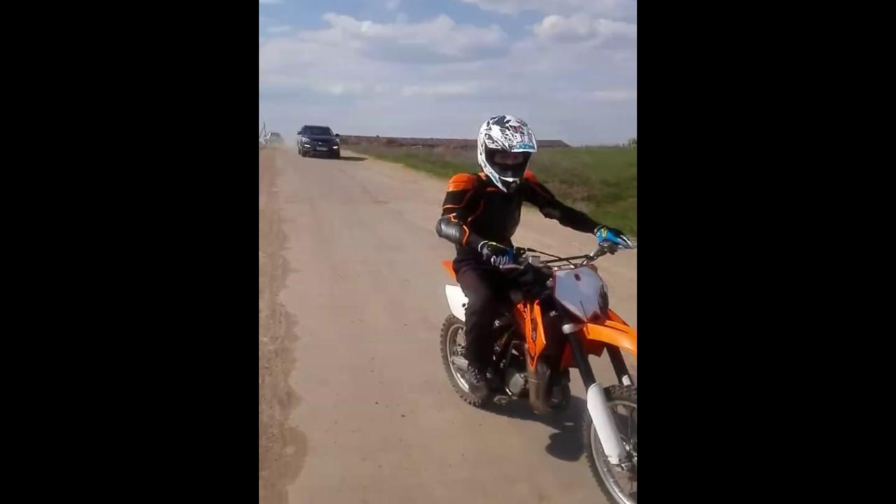 KTM 85 sx test Top speed - YouTube