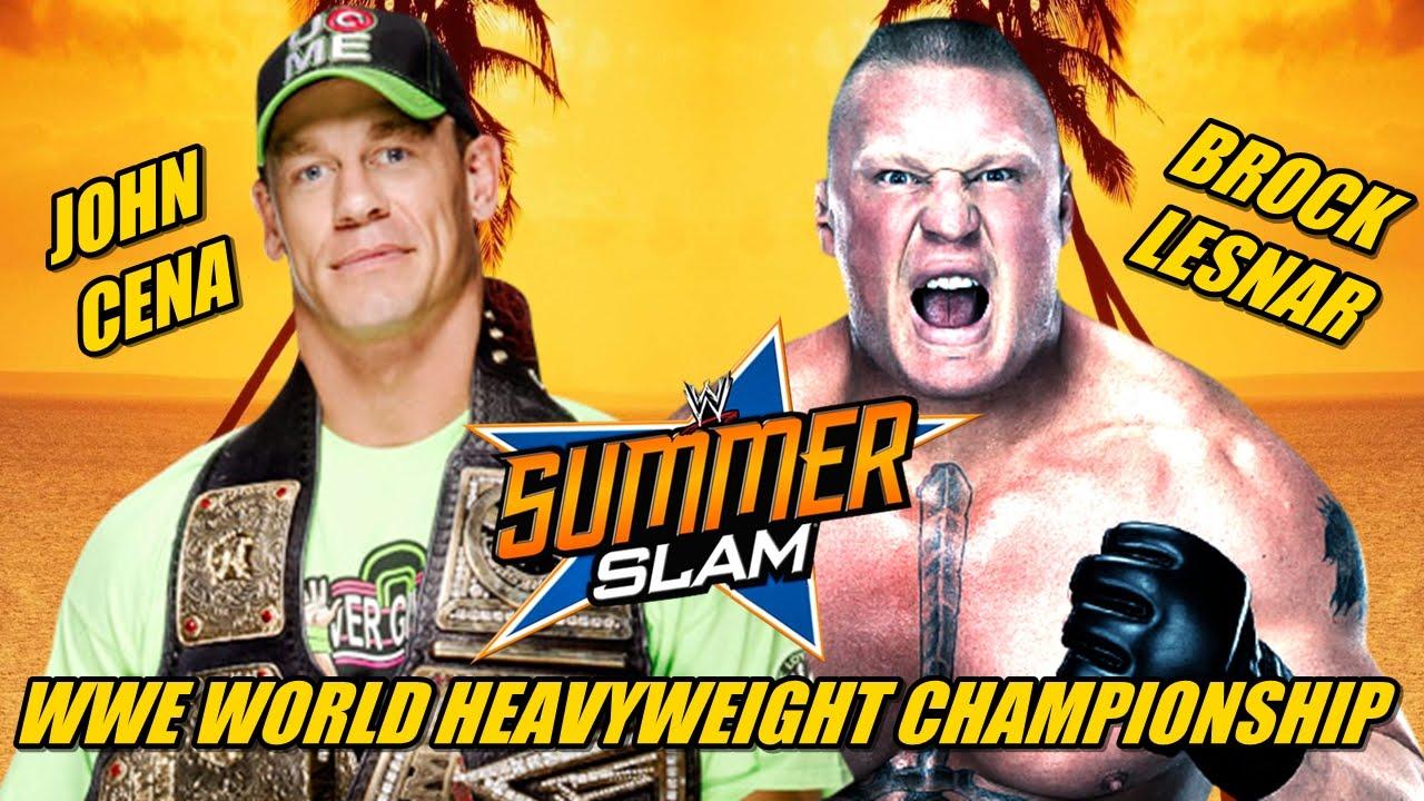 WWE SummerSlam 2014 - John Cena vs Brock Lesnar (WWE WHC ...