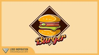 How to Create Burger Logo icon | Illustrator tutorial