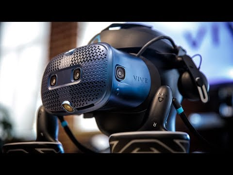 hands-on-with-htc-vive-cosmos-vr-headset!
