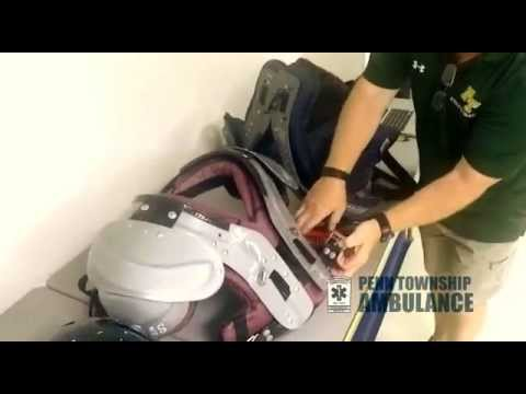 Athletic Helmet and Pad Removal