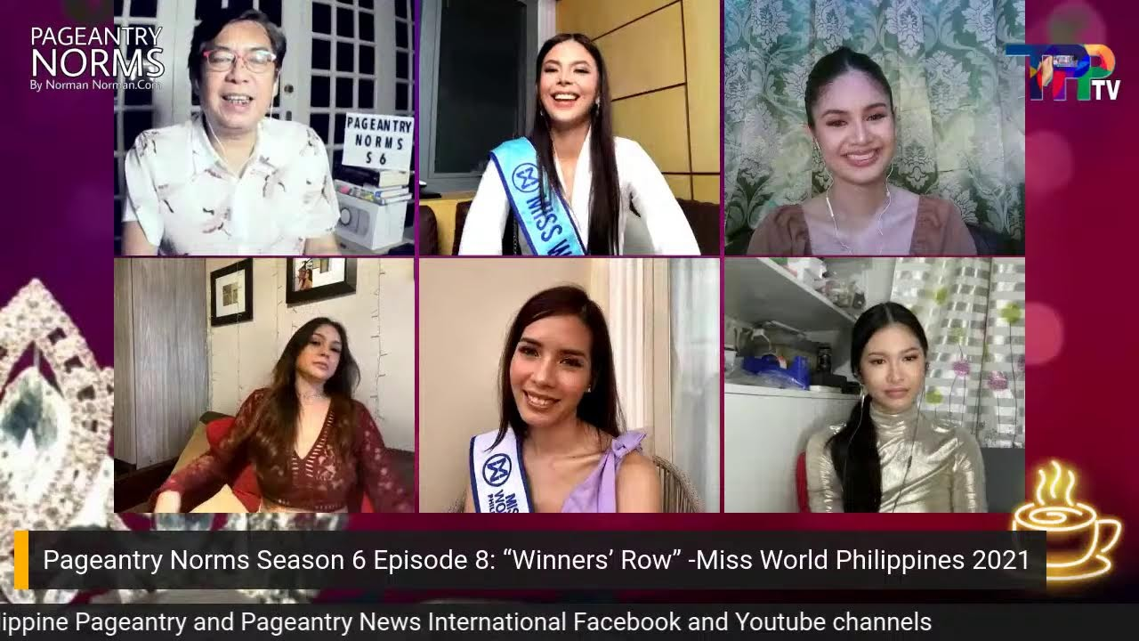 """Download Pageantry Norms Season 6 Episode 8: """"Winners' Row"""" (Miss World Philippines 2021)"""