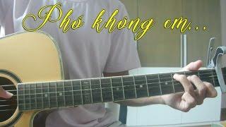 Thái Đinh | Phố Không Em - Acoustic Cover | Kee Tam Hoàng (kèm hợp âm)