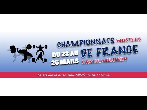 Squat Hommes Masters 3/4 - FRANCE MASTERS FORCE ATHLÉTIQUE 2018