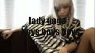 lady gaga - boys boys boys lyrics