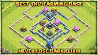 Best Th12 Farming Base With 3 Inferno Towers | Never Lose Dark Elixir | Clash of Clans
