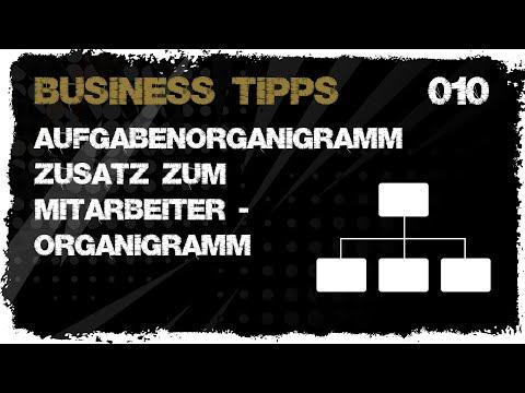 business tipps #010: Aufgabenorganigramm - Zusatz zum Mitarbeiterorganigramm