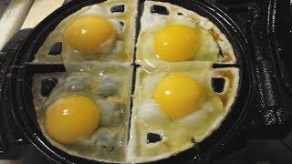 Eggs meet waffle machine(, 2014-05-07T18:49:08.000Z)