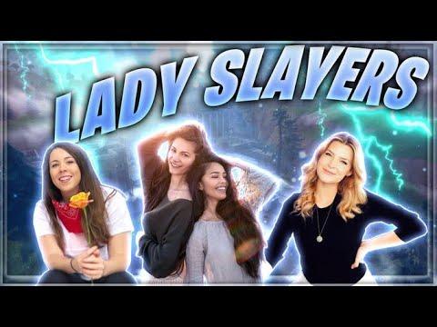 LADY SQUAD SLAYERS ft Asivrs KittyPlays & Valkyrae | Fortnite Battle Royale | Alexia Raye