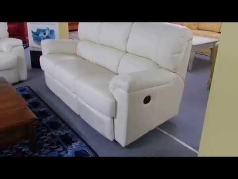 Divano 3 Posti In Pelle Doimo.Divano Phil In Pelle Bianca Meccanismo Relax Doimo Sofas Youtube