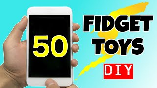 50 AWESOME DIY FIĎGET TOYS you have to make - EASY TOYS FOR KIDS TO MAKE - HOMEMADE STRESS RELIEVERS