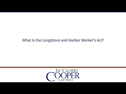 What is the Longshore and Harbor Worker's Act?