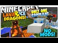 Minecraft | LAVA & ICE DRAGON PETS | No Mods | Only One Command (Minecraft Vanilla Mod)