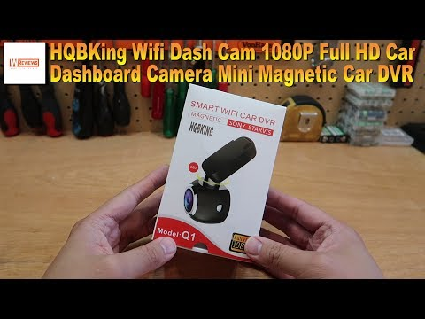 HQBKing Wifi Dash Cam 1080P Full HD Car Dashboard Camera Mini Magnetic Car DVR