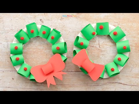 Paper Plate Wreath Christmas Craft Idea for Christmas Decoration