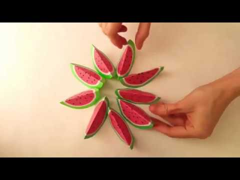 DIY CRAFTS WITH FRUITS SHAPES , CRAFT PAPERS !!!!