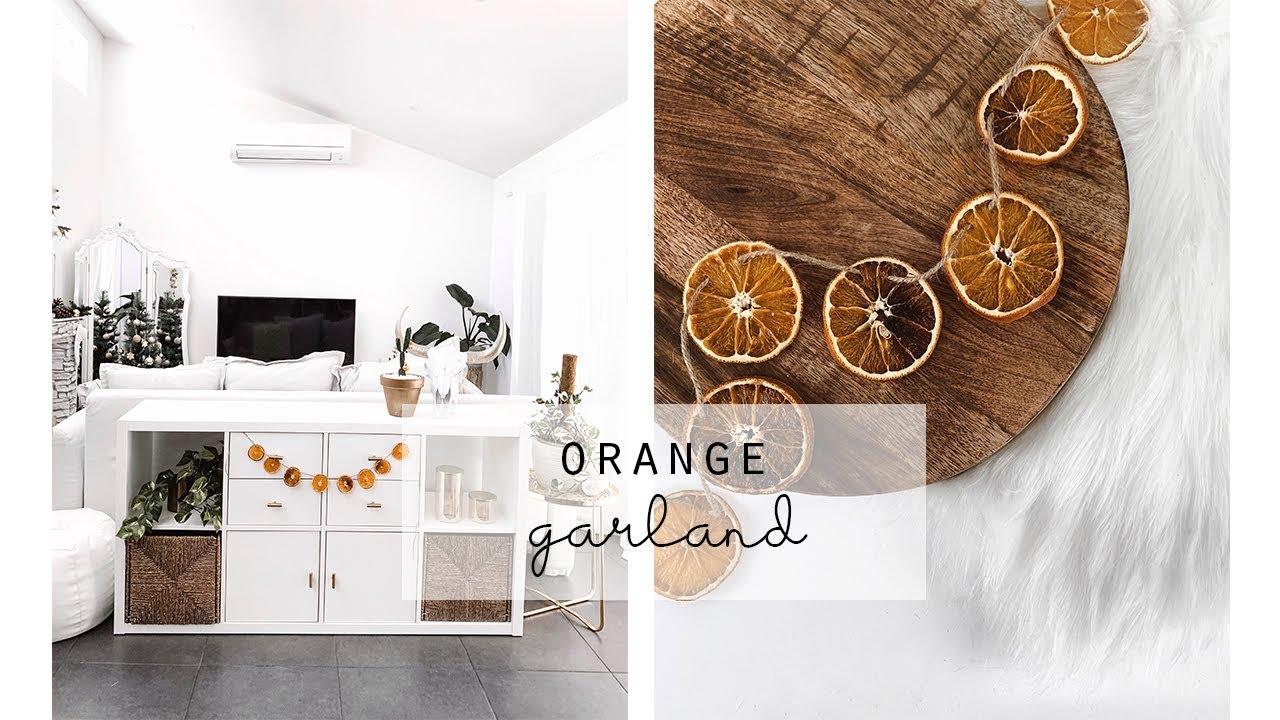 Diy Dried Orange Garland Christmas Garland