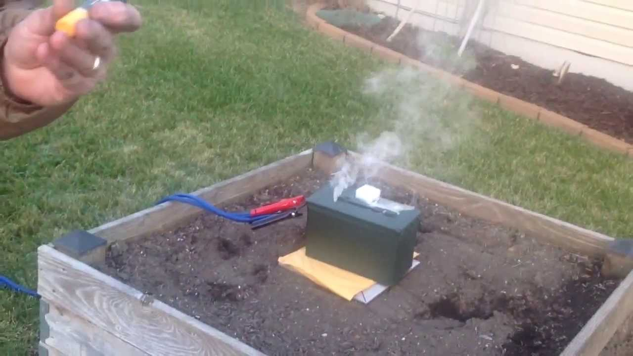 Lipo Fire Bunker Test Youtube