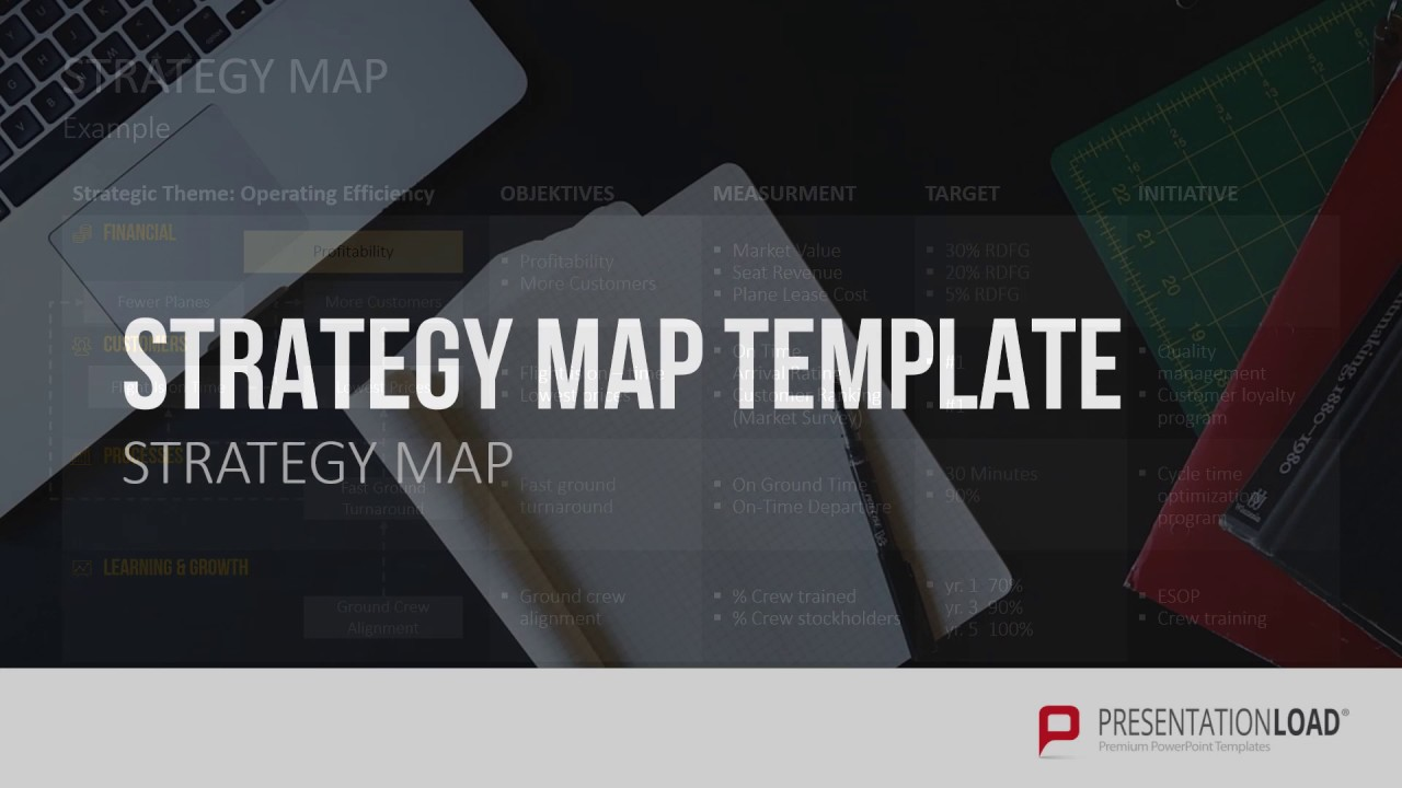 Strategy Map Powerpoint Template Youtube