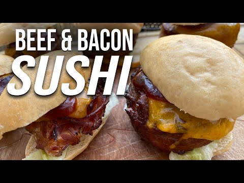 Beef Bacon Sushi Sliders