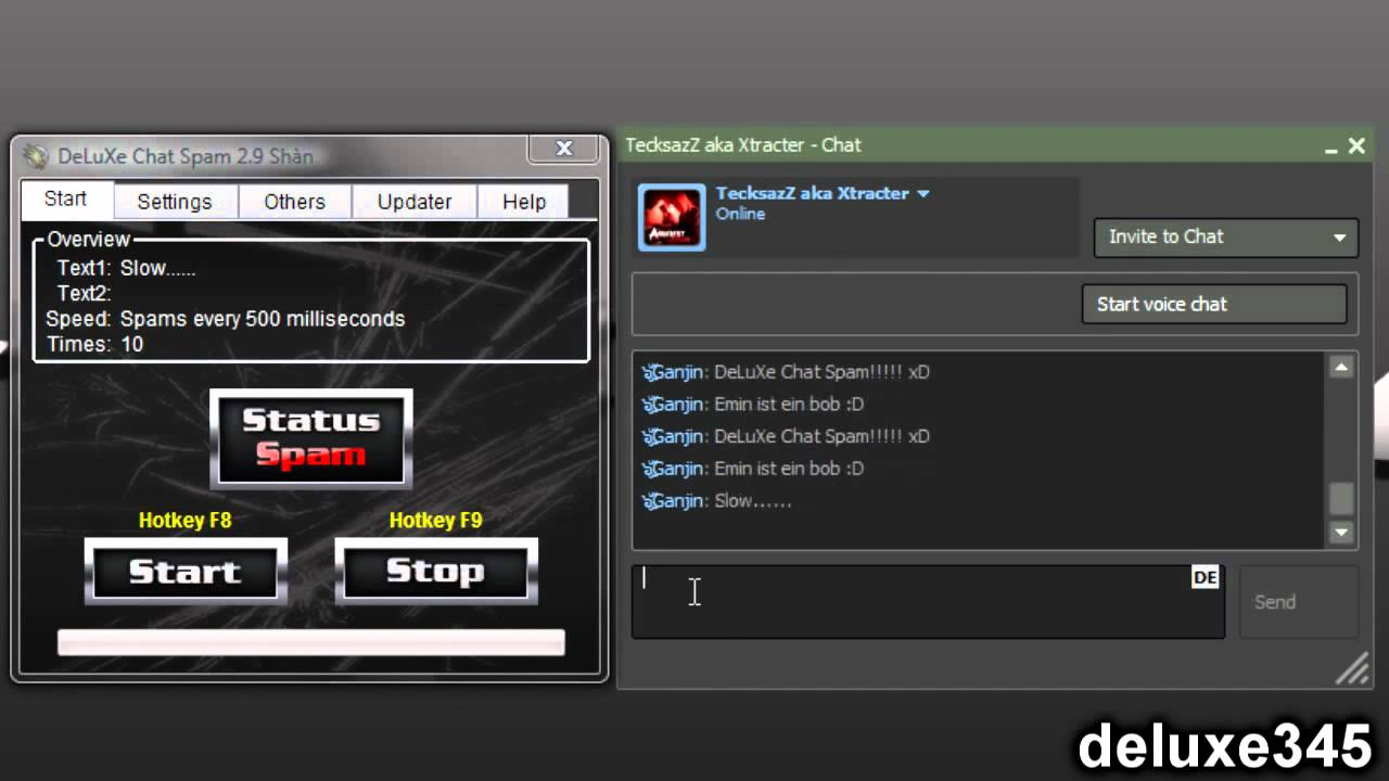 Chat auto spammer for imvu
