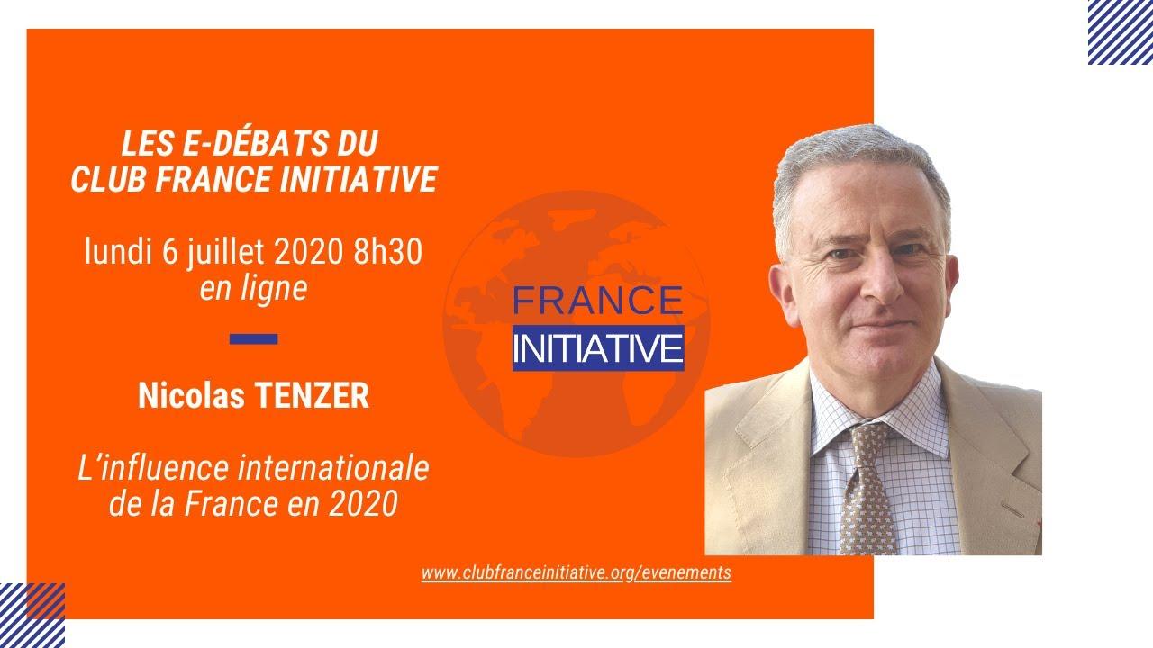 Débat en ligne avec Nicolas TENZER sur l'influence internationale de la France en 2020