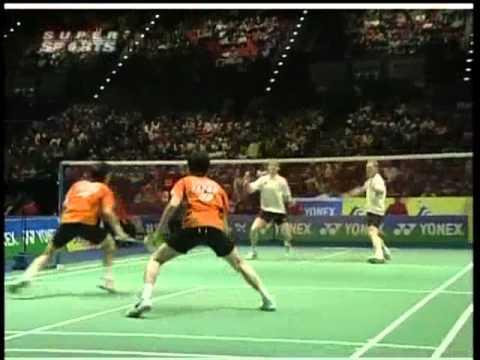 all england open 2008 Shintaro IKEDA Shuichi SAKAMOTO vs Lars PAASKE Jonas RASMUSSEN All England Open 2008 Quater Final2