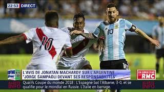 After foot du vendredi 06/10 – partie 3/6 - l'avis tranché de jonatan machardy sur l'argentine