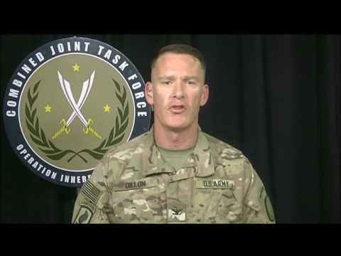 BATTLE for IRAQ/SYRIA: 6-13-17. Coalition Brief w/ New Spokesman Col. Dillan, Press Q&A on At Tanf.