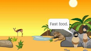 Fast food.The Funniest joke in The World. by The English language.